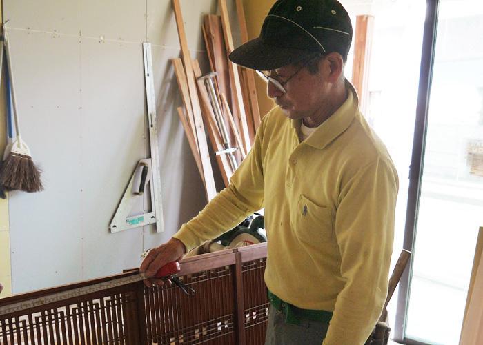 古川原 富雄さんの仕事風景の写真