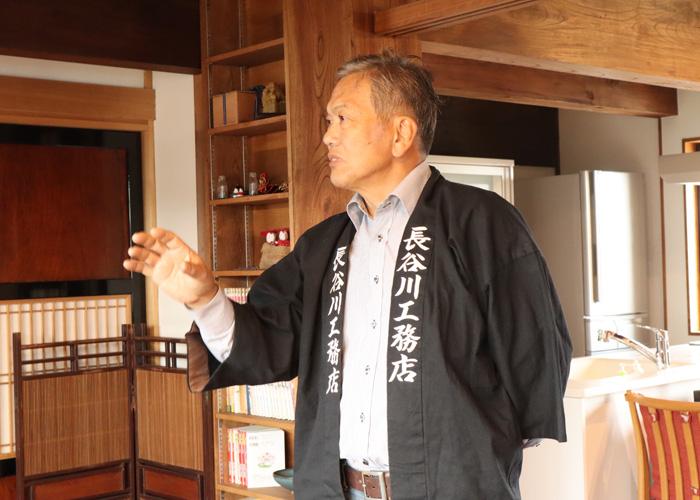 長谷川 一良さんの仕事風景の写真