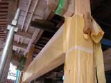 香取神社柱取り替え
